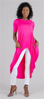 Fuschia Hi Low Tunic