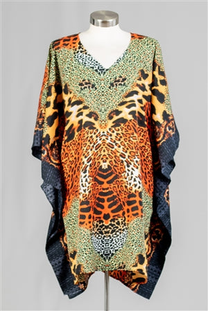 Cat Print Kaftan Top