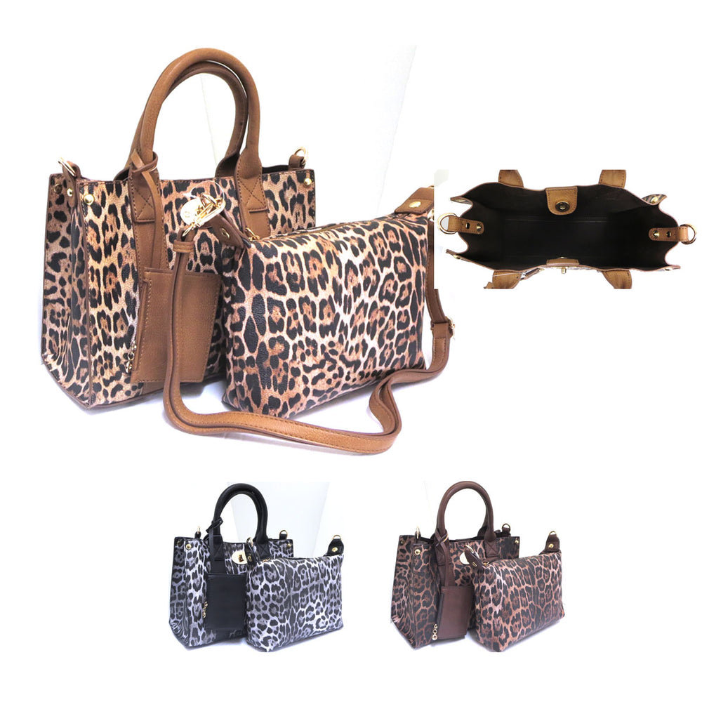 Leopard Top Mag closure Bag