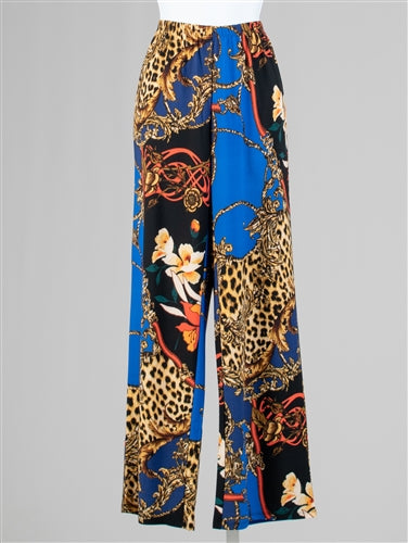 Multicolor Stretch Loose Leg Pant