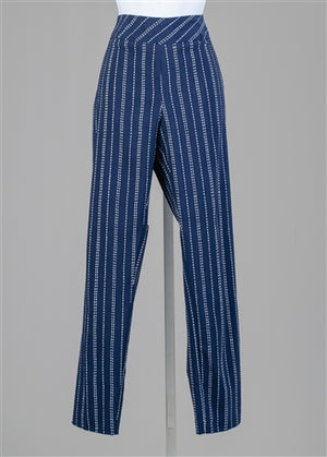 Navy Printed Pull-on Pant