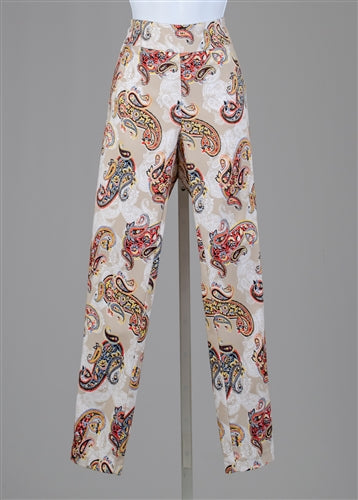 Paisley Printed Pull-on Pant