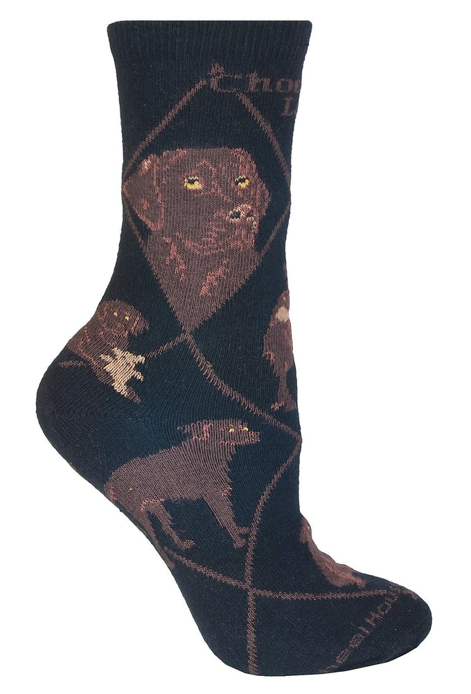 Choclate Lab Socks
