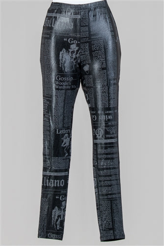 Newsprint Legging