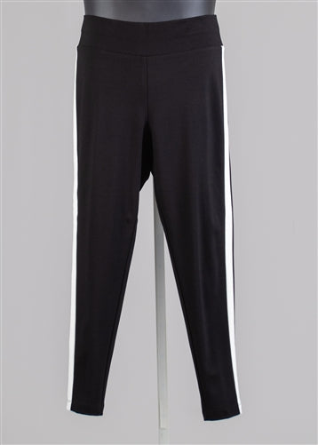 Side Stripe Ponte Knit PlusSize Pant