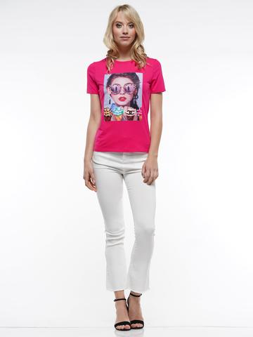 Fuchsia Scuba Patch T-Shirt