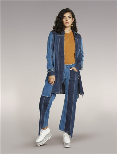 Stripe Denim Stretch Jeans