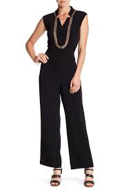 WHY - Black Jumpsuit w/gold chain detail