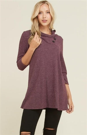 Plum tunic top