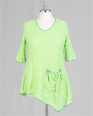 Lime Asymmetrical Tunic Top