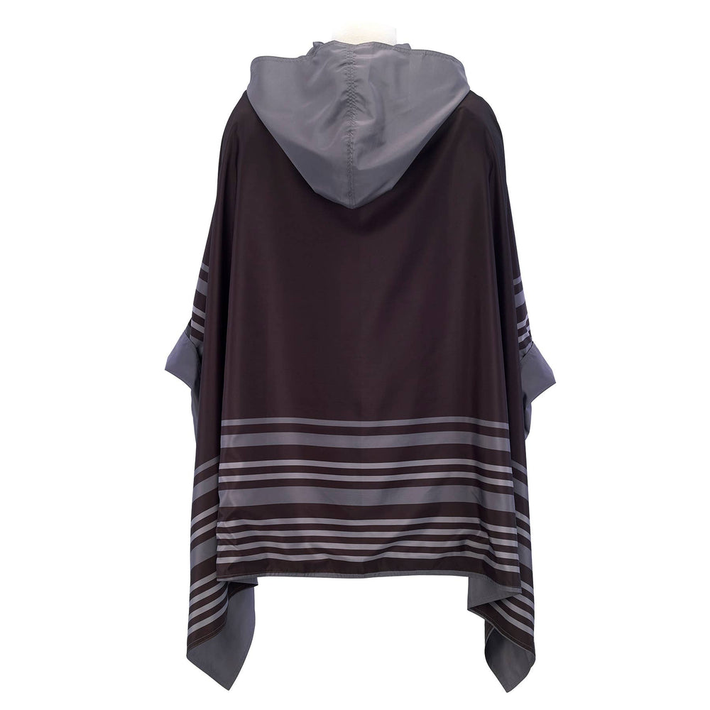 Black-Grey Bold Stripe RainCape