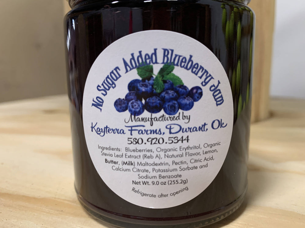 9.5 oz Sugar Free Blueberry Jam