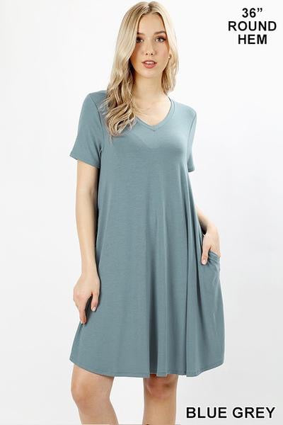 Short Sleeve Pocket Dress