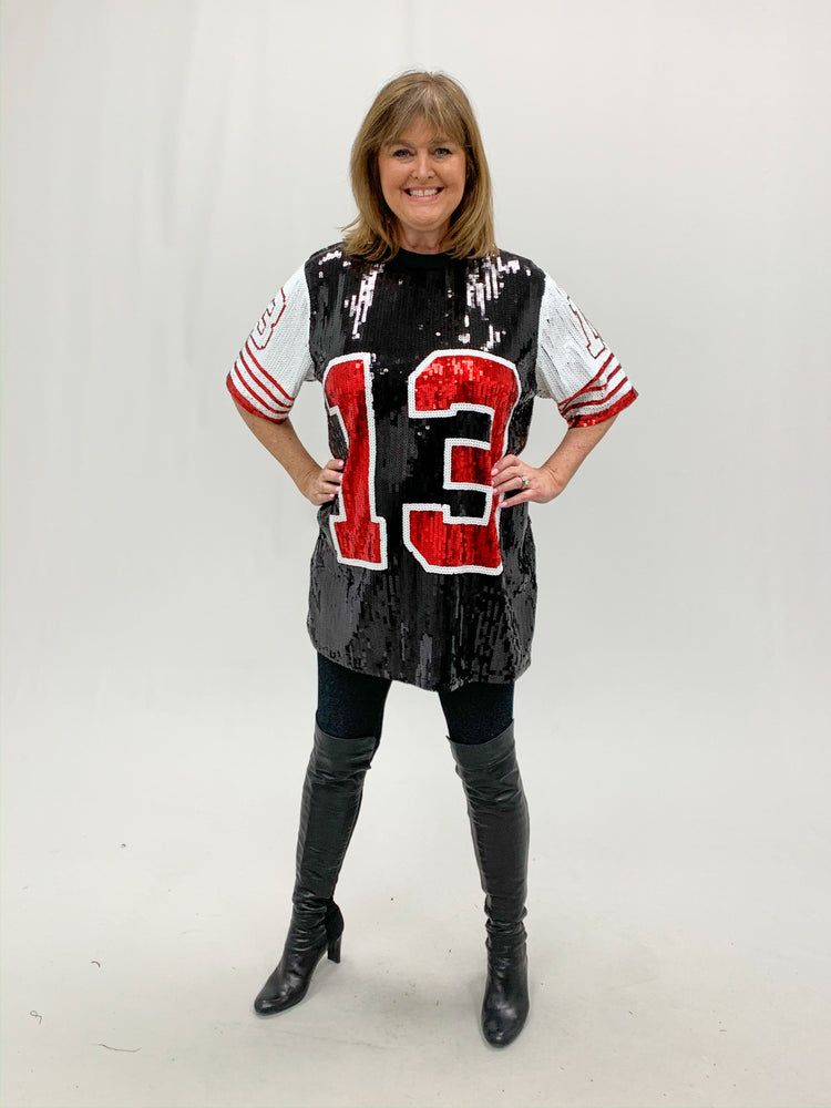 Sequin Football Jersey