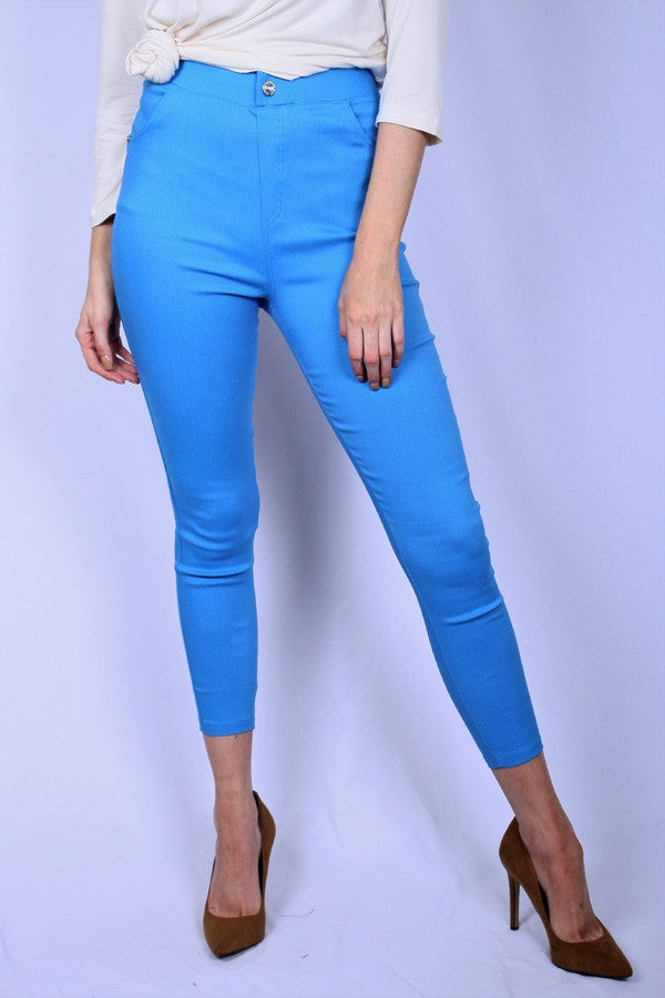 Turquoise Stretch Jeggings