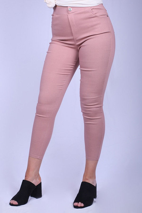 Blush Stretch Jeggings