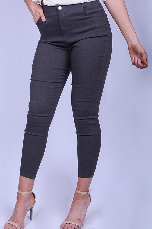 Dark Gray Stretch Jeggings