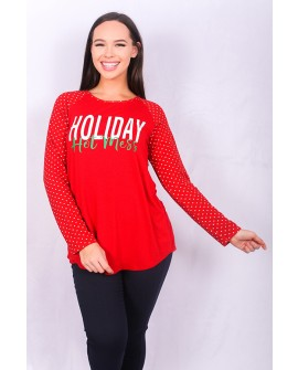 Holiday Hot Mess Tee