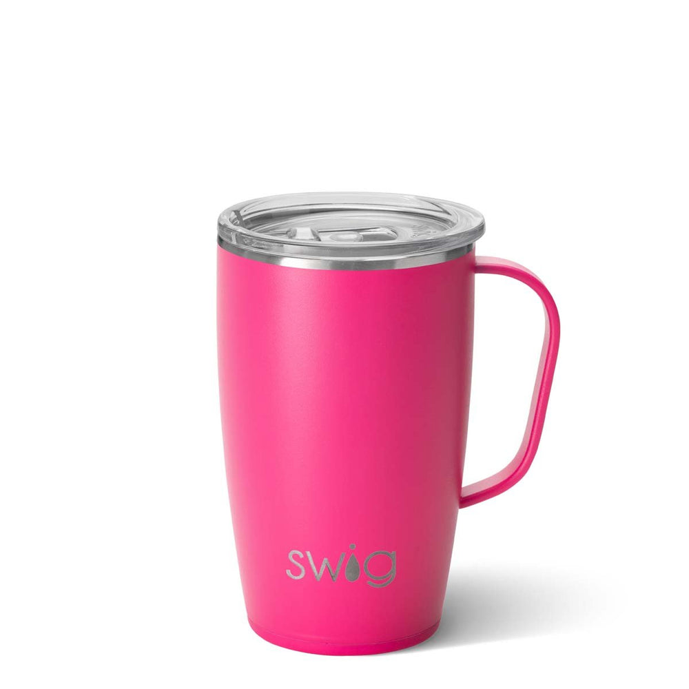 Matte Hot Pink Travel Mug (18oz)