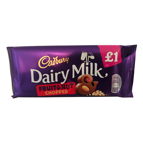 CADBURY DAIRY MILK FRUIT AND NUT CHOPPED ( Dated )