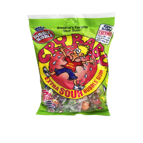 CRY BABY EXTRA SOUR BUBBLEGUM PEG BAG