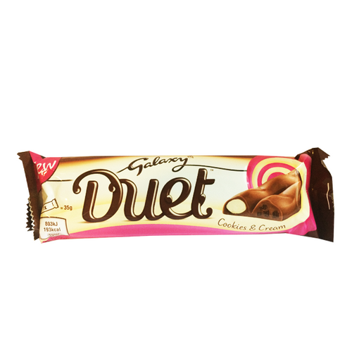 GALAXY DUET COOKIES & CREAM ( Dated )