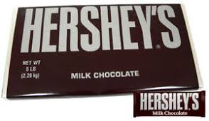 GIANT 5LB HERSHEY'S PLAIN MILK CHOCOLATE BAR