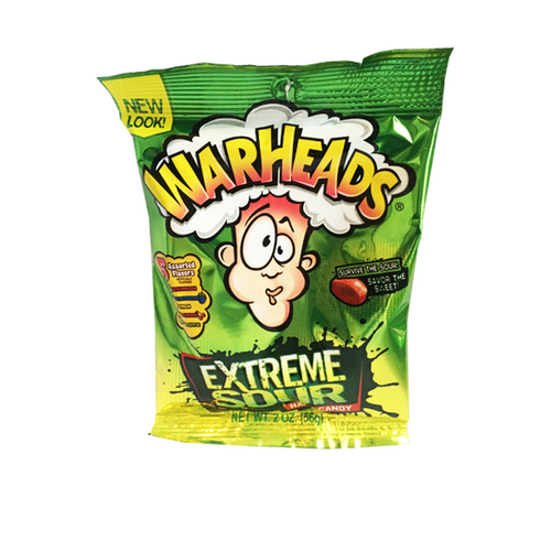 WARHEADS EXTREME SOUR HARD CANDY PACKET