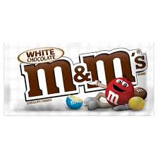 M&M'S WHITE CHOCOLATE SNACK BAG