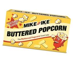 MIKE AND IKE BUTTERED POPCORN THEATRE BOX
