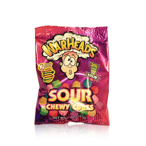 WARHEADS SOUR CHEWY CUBES BAG