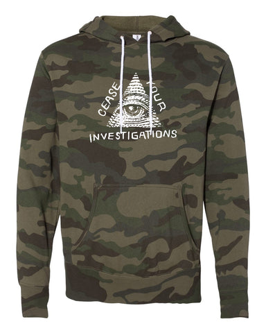 Cease Your Investigations: Secret Illuminati (Light Weight) HOODED SWEATSHIRT
