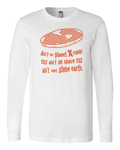 Flat Earth Long Sleeve T-Shirt