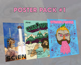 Poster Pack #1 (Fear the Cloud People, Pineapple Summer, Science)