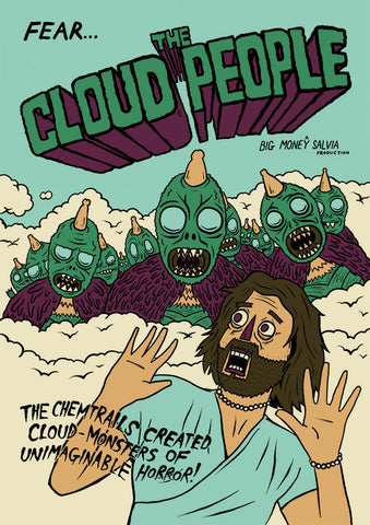 "FEAR... THE CLOUD PEOPLE Poster! (18X24"")"