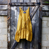 Remembering Valentines Mustard Gold Short Ruby Dress