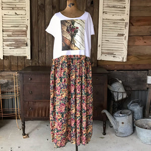Remembering Valentines and Vintage Floral Maxi Sierra