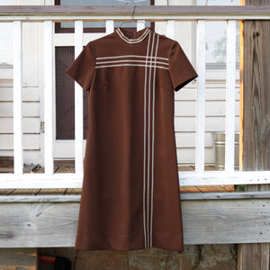 Brown Polyester Dress