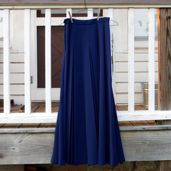 Deep Blue Pleated Skirt