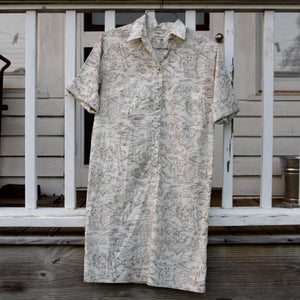 Toile Shirt Dress