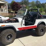 YJ, CJ7 Rock Sliders, No Tubing