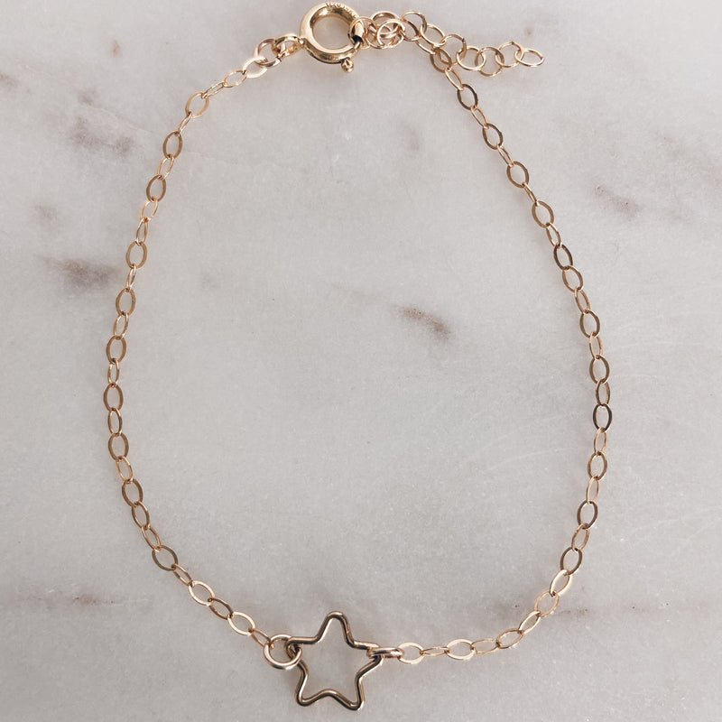 MAC & RY JEWELRY - 14K GOLD FILLED STAR ANKLET