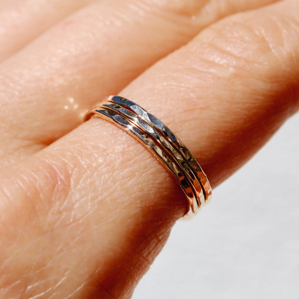 FOXYCAT JEWELRY - GOLD RING STACKERS (SET OF 3)