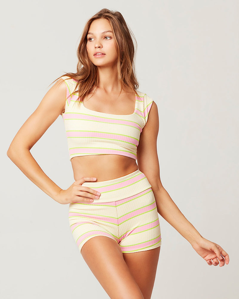 L*SPACE - STRIPED PRISM BIKINI TOP