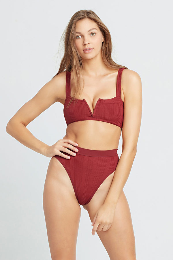 L*SPACE - POINTELLE RIB FRENCHI BIKINI BOTTOM