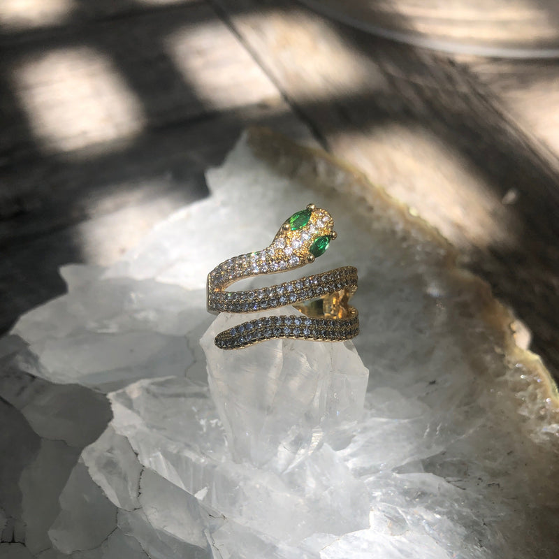 RAPTOR JEWELRY - EMERALD EYES RING