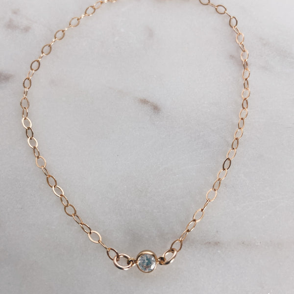 MAC & RY JEWELRY - 14K GOLD FILLED CUBIC ZIRCONIA ANKLET
