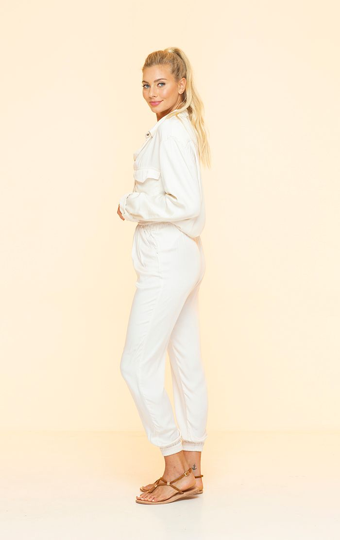 INDAH CLOTHING - EMMA SOLID LONG SLEEVE BUTTON DOWN