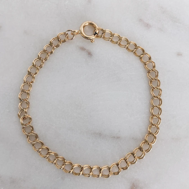 MAC & RY JEWELRY - 14K GOLD FILLED DOUBLE CURB CHAIN BRACELET