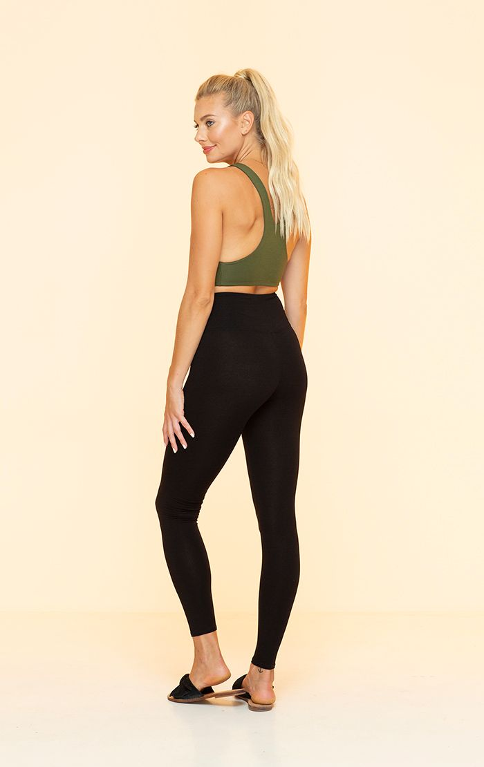 INDAH CLOTHING - DAWN SOLID HIGH WAISTED FULL LEGGING